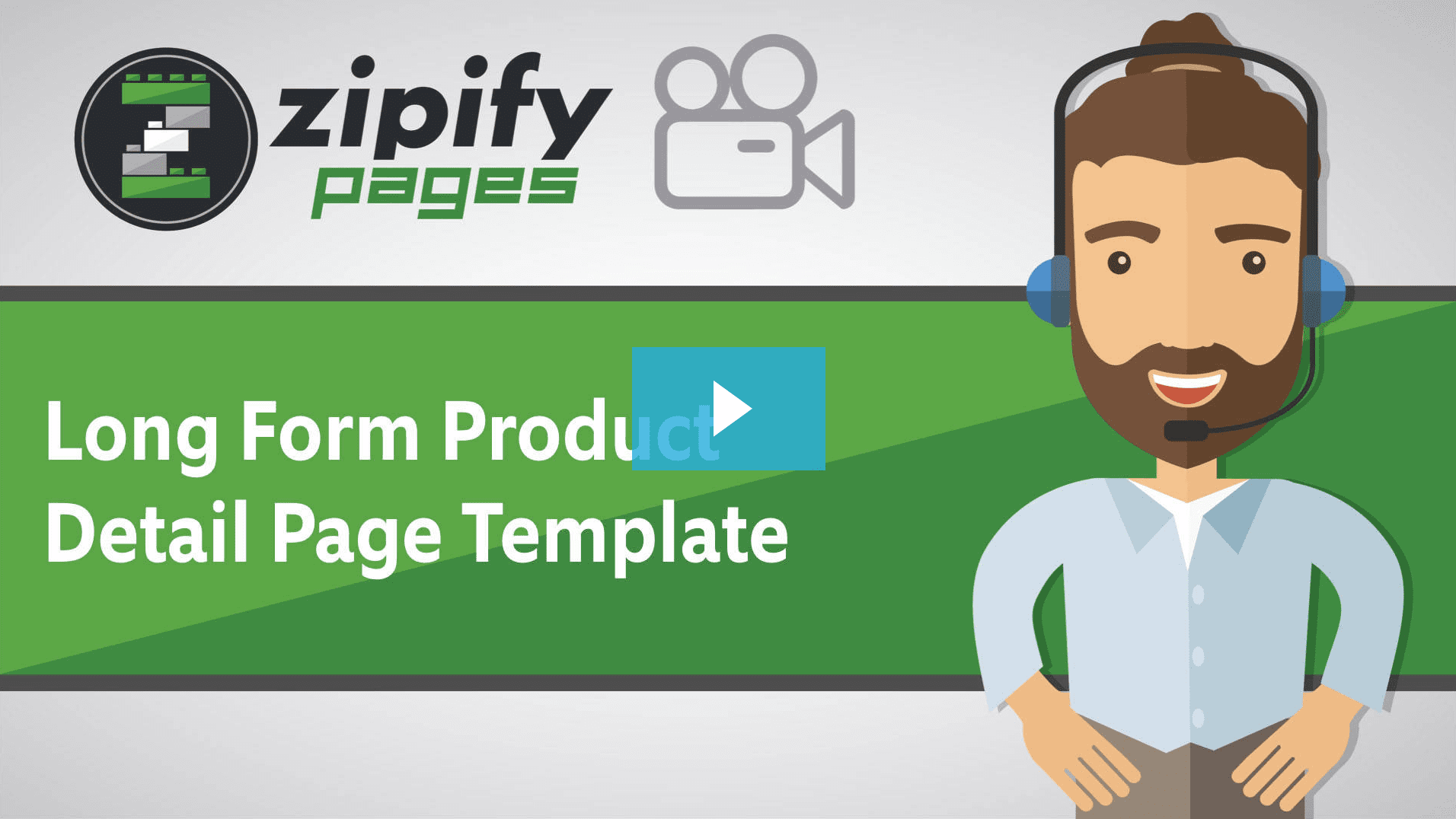 Zipify pages - long form product detail page template