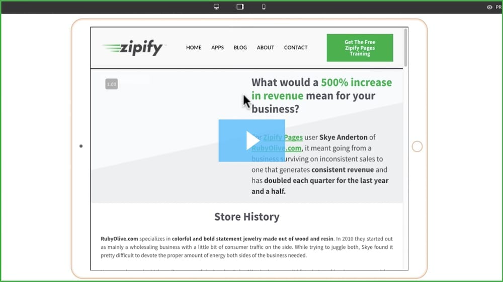 "Zipify ""500% increase in revenue"""
