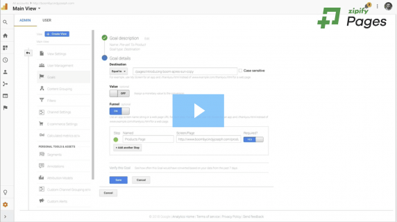Zipify new feature: funnel visualization