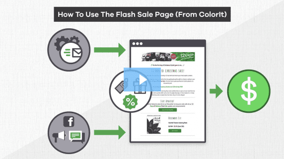 How to use the flash sale page from ColorIt