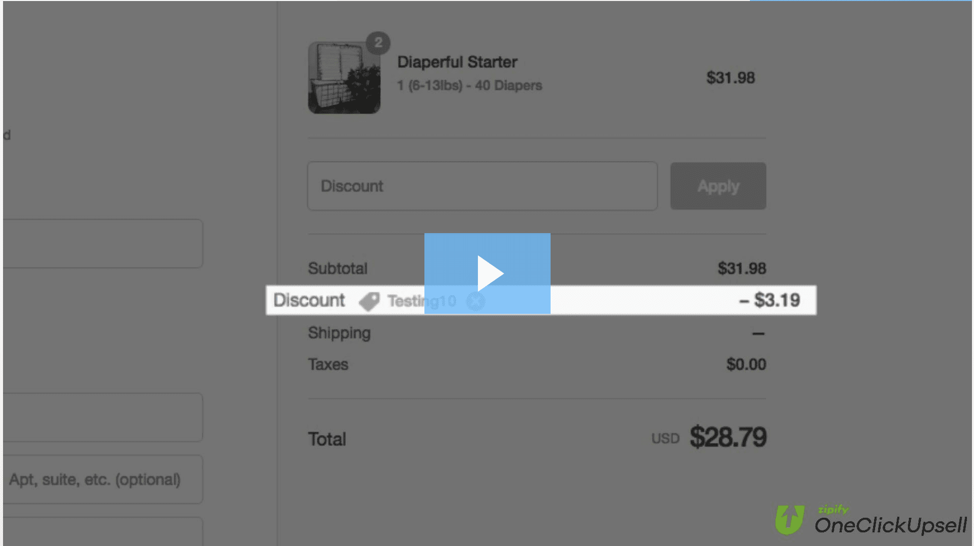 video on discount application