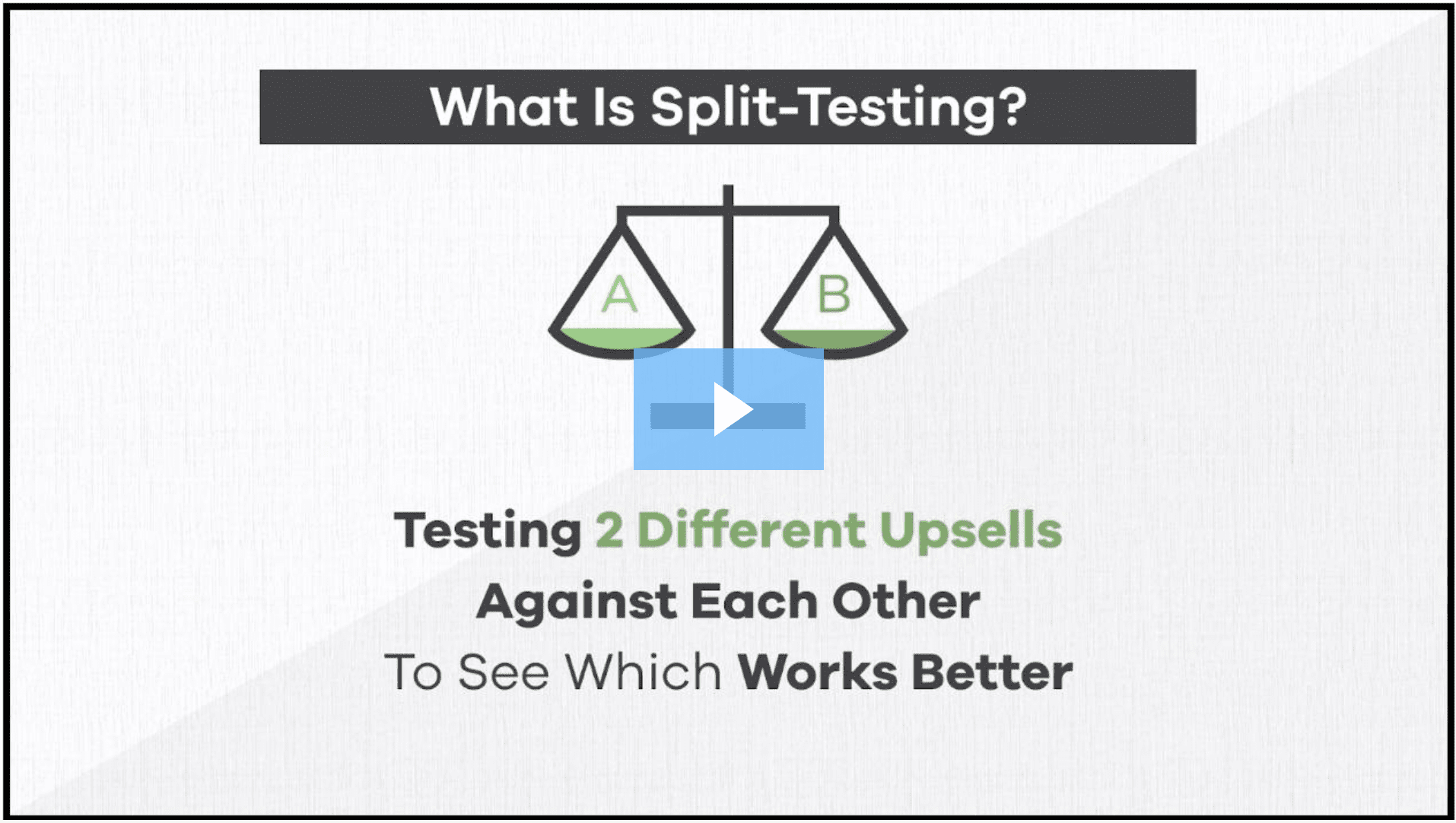 Testing 2 Different upsells against each other