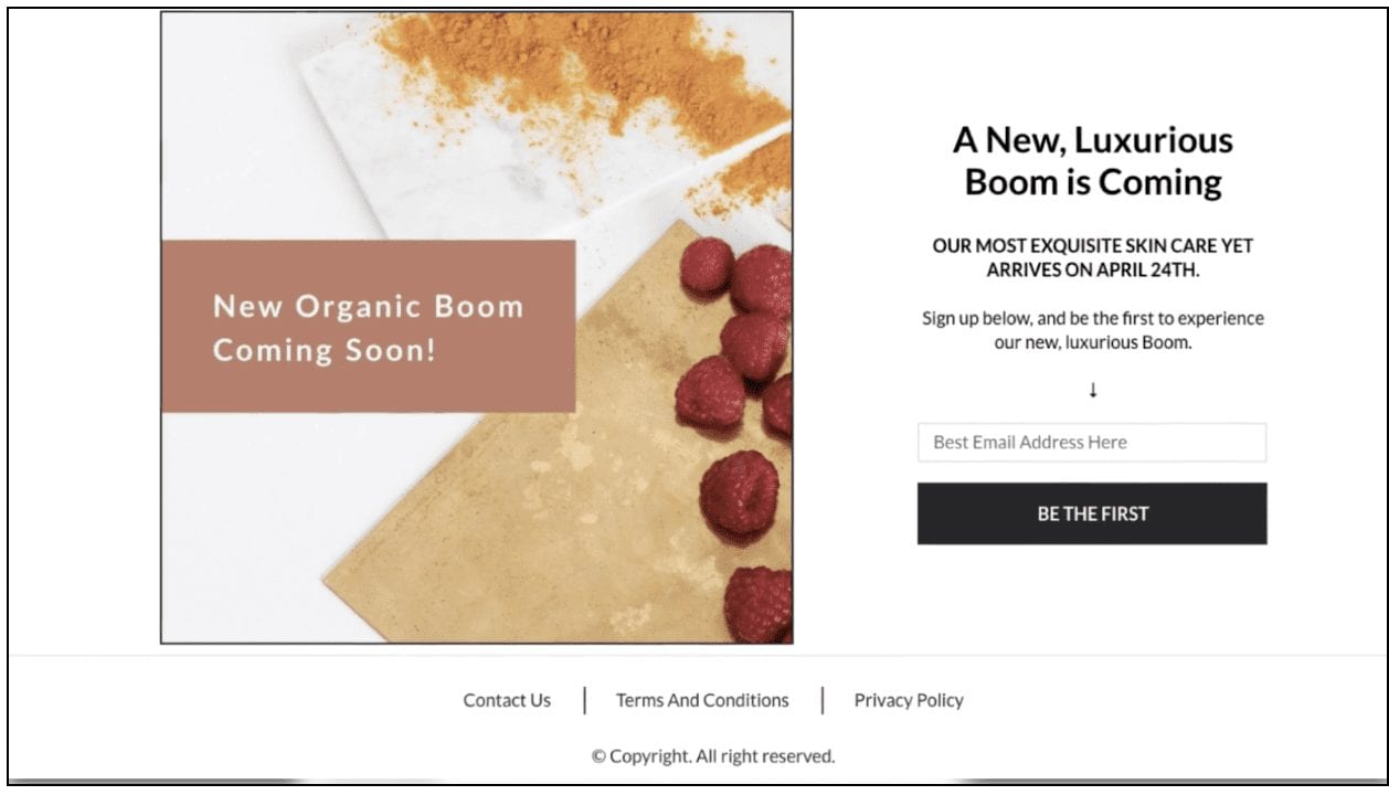 "templates to build anticipation and boost sales - ""Boom Gold"""
