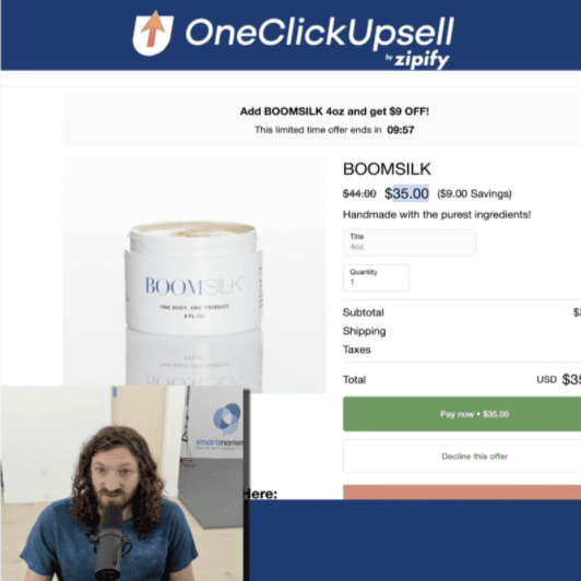 post-purchase upsell from OneClickUpsell.