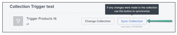 Sync collections in Zipify One Click Upsell