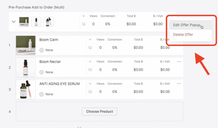 """""""Edit Offer Popup"""" option for multi-product pre-purchase upsells in OneClickUpsell"""